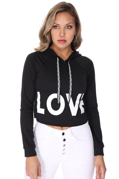 'LOVE' Graphic Hoodie