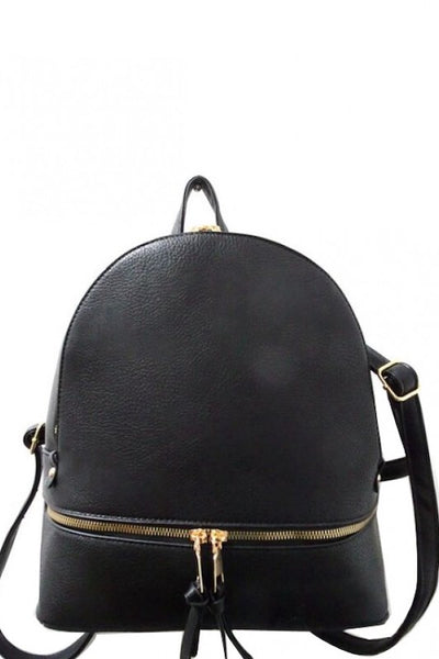Zipper Front Fashion Backpack