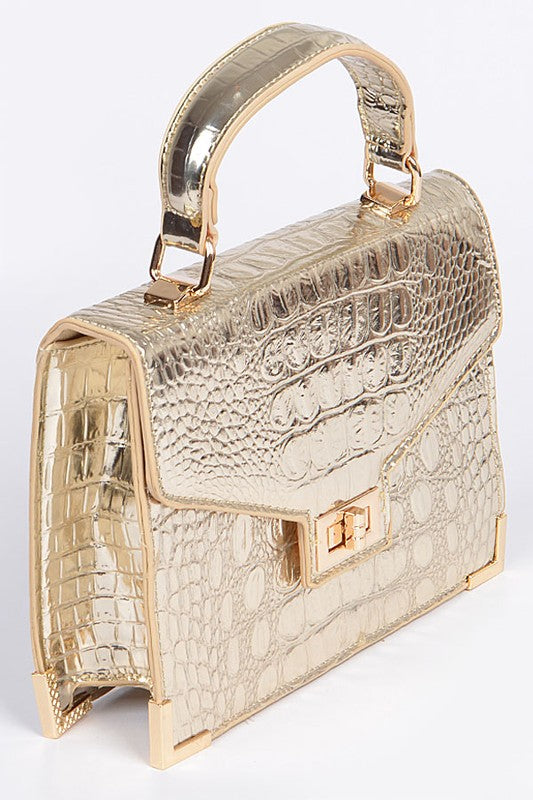 Small Crocodile Print Handbag
