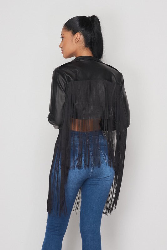 Fringe Crop Jacket