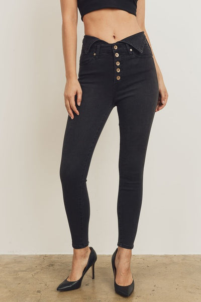 Kendall+Kylie Button Up Skinny Jean
