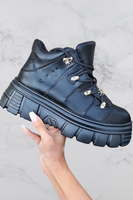 Chunky Sole Platoform Sneaker Bootie