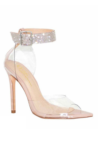 Pointed Toe PVC Ankle Pump