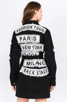 Long Denim Fashion Tour Jacket