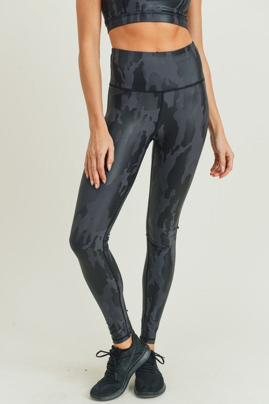 High Waist Foil Legging