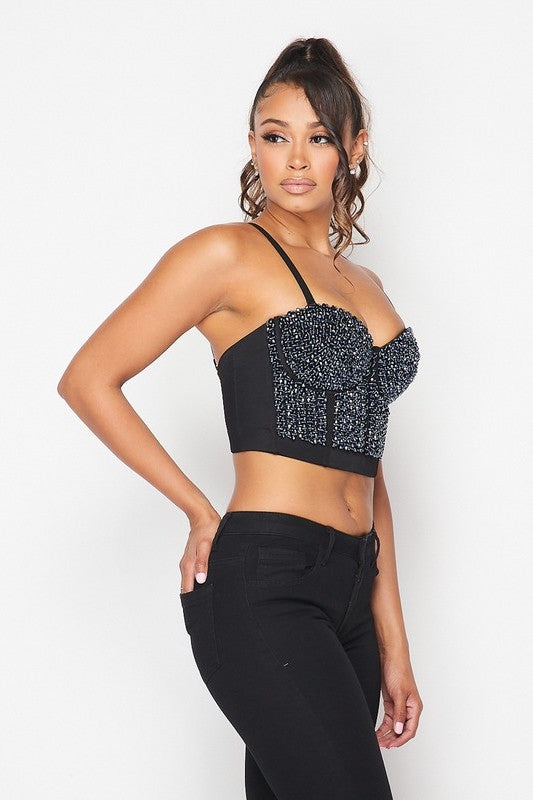 Beaded Trim Bustier