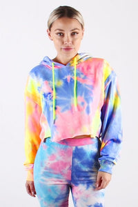 French Terry Neon Tie Dye Sweatshirt