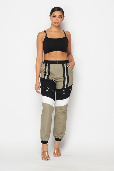 Buckle Accent Cargo Jogger