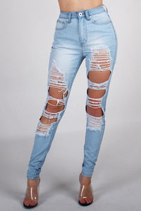Destroyed Hybrid Jeans