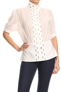 Decorated Button Up Top