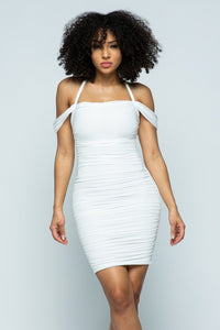 Rouched Mini Dress