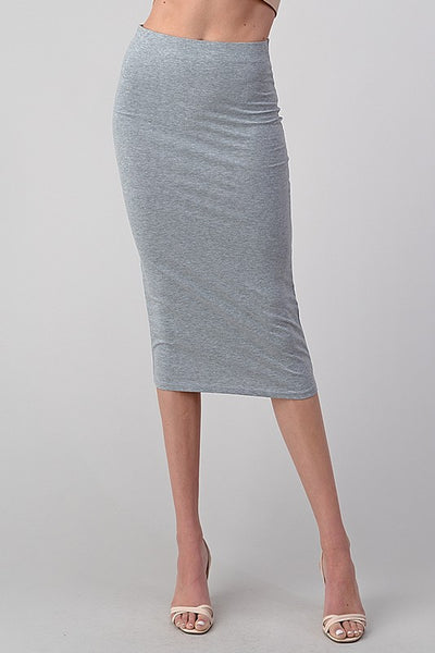 Long Plain Midi Skirt