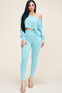 French Terry Long Sleeve Top & Pants Set