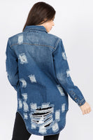 Longer Destructed Denim Jacket