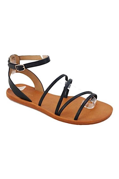 Criss Cross Sandal with Ankle Strap