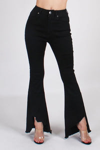 Flare Jean with Frayed Bottom Hem