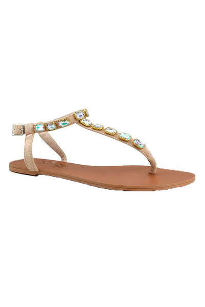 Sandal with Gem Strap