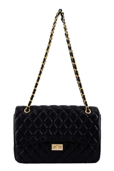 Large Diamond Quilted Handbag