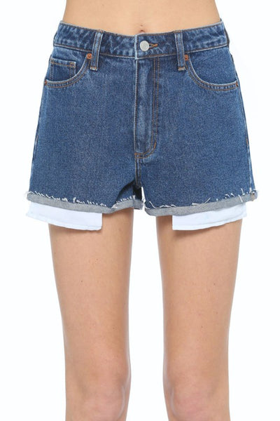 High Rise Short with Mini Cuff