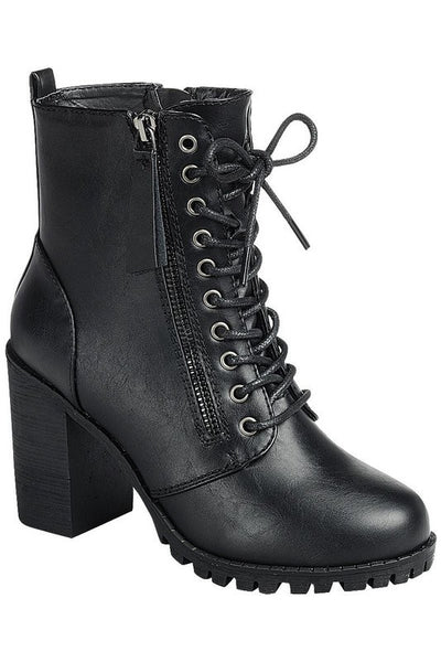 Lace Up Lug Boot