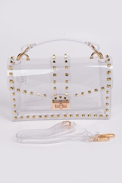 Clear Studded Handbag