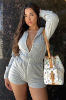 Terry Romper with Hoodie