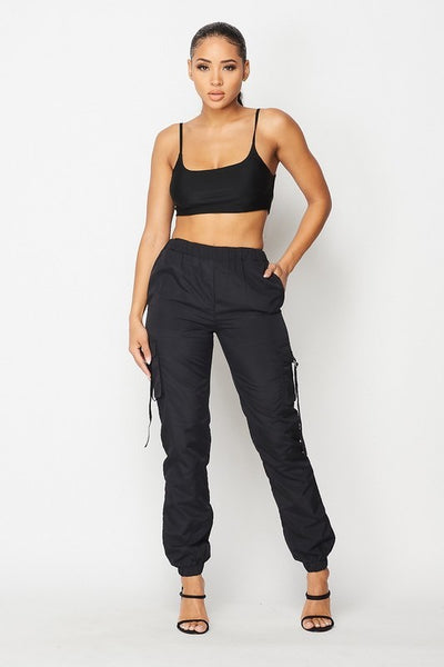 Cropped Tank and Jogger Set