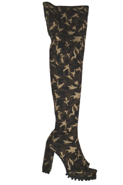 Thigh High Open Toe Tall Boot