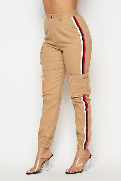 Side Tape Cargo Pants
