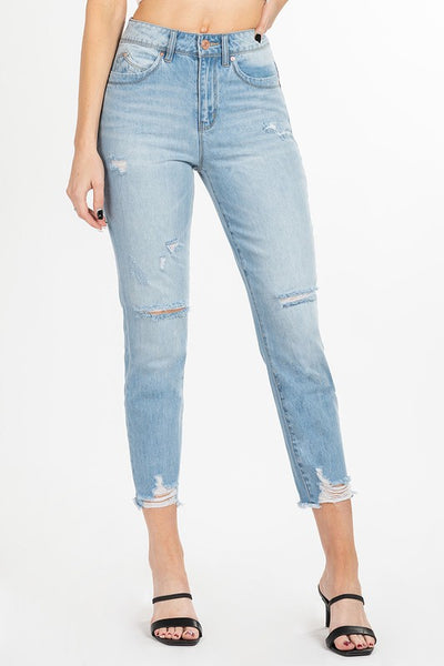Destroyed Jean with Ripped Hem