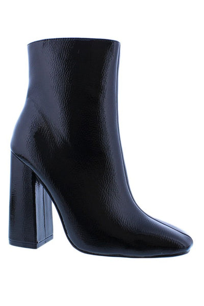 Square Toe High Ankle Bootie