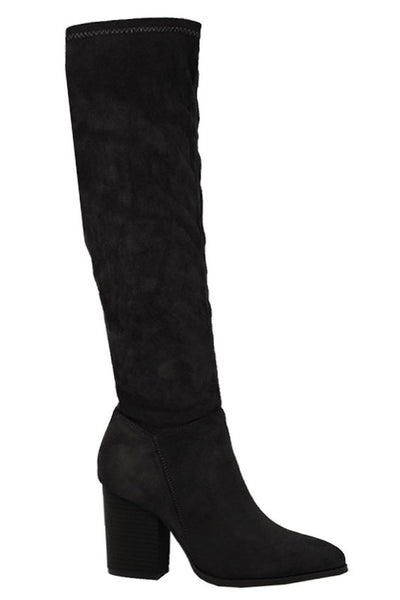High Stretch Low Block Heel Boot