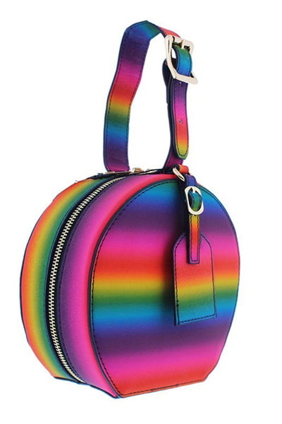 Rainbow Circular Mini Bag