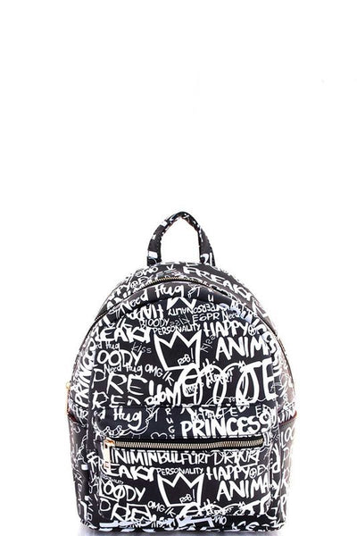 Medium Graffiti Design Backpack