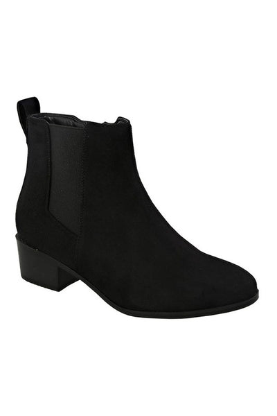 Side Zipper Short Ankle Bootie