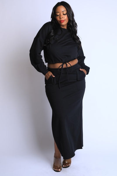 PLUS Maxi Skirt Lounge Set