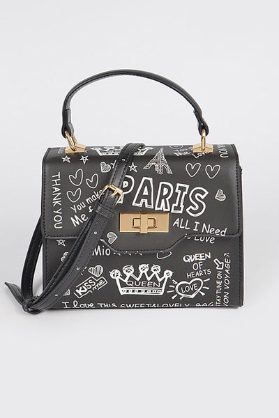 Paris Graffiti Handbag