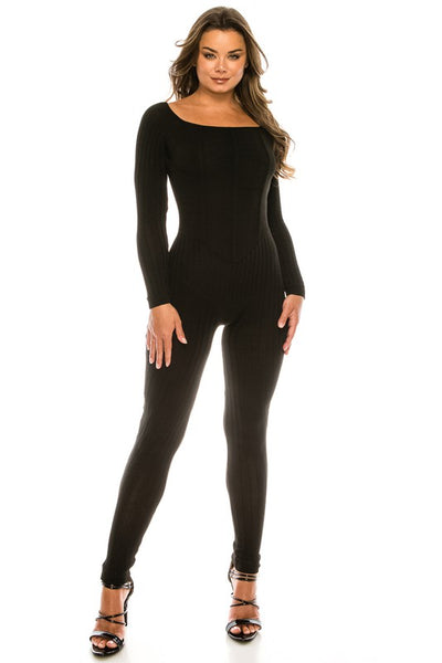 Chest Detail Long Sleeve Jumpsuit