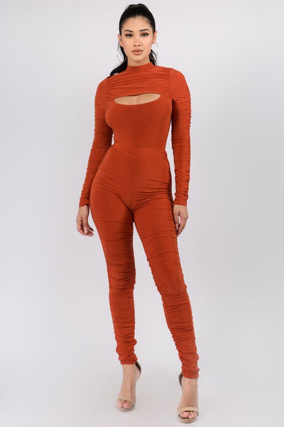 Shirred Bodysuit and Pants Set