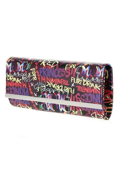 Graffiti Long Clutch Bag