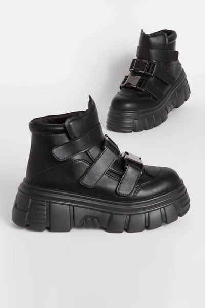 High Top Buckle Velcro Sneaker
