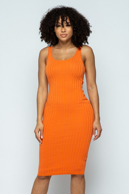 Sleeveless Bodycon Tank Dress
