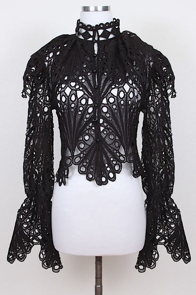 Lace Top With Collar