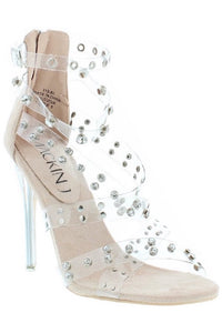 Studded Criss Cross Heel