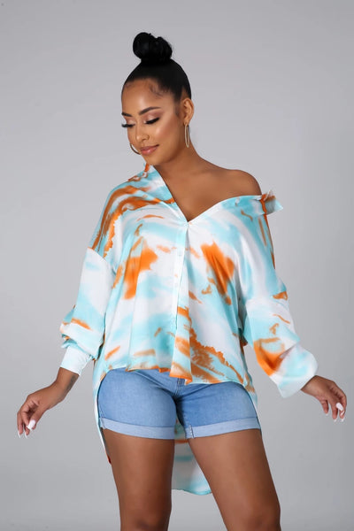 Long Sleeve Watercolor Shirt