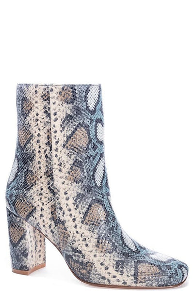 CL Snake Thick Heel Short Bootie