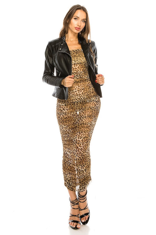 Leopard Sheer Dress