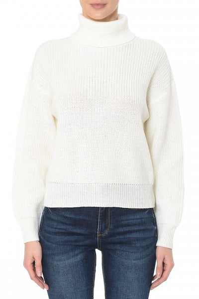 Mock Neck Long Sleeve Sweater
