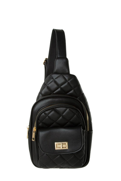 Small Quilted Sling Backpack