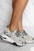 Snake Print Lace Up Sneaker